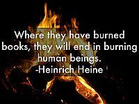 Book burning.