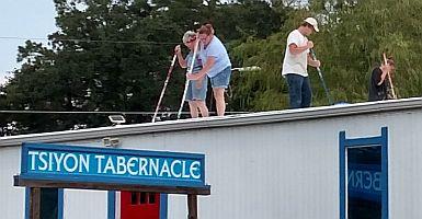 Hurricane Harvey roof repair.