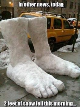 2 feet of snow!