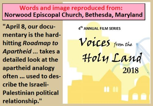 Curches against Israel.