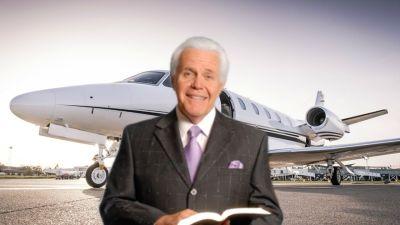 Treasures in heaven - not a jet.