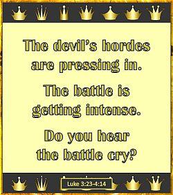 Do you hear the battle cry?