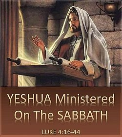 Yeshua ministered on the Sabbath.