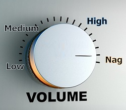 Is the volume hurting your ears?
