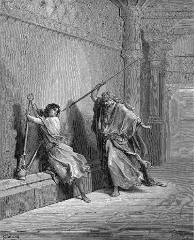 King Saul tries to kill David.