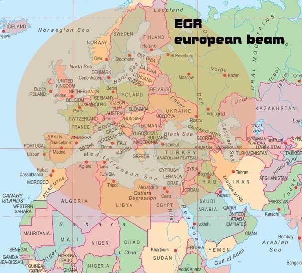 European Gospel Radio Footprint