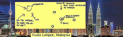 Kuala Lumpur meteor strike dream