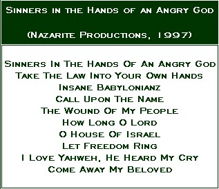 Sinners in the Hands of an Angry God - Back