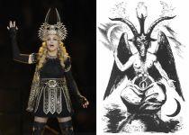 Madonna as baphomet/satan!