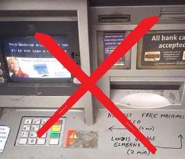 No more cash!