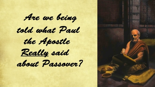 Paul on Passover