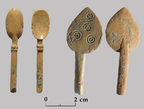 Carved and decorated ivory utensils