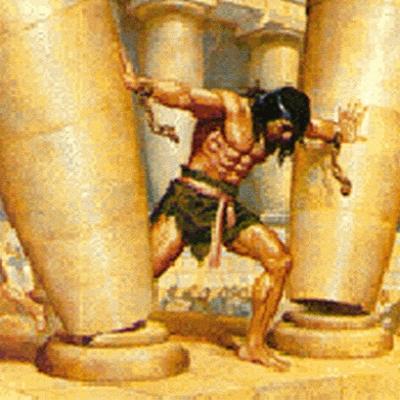 Samson at the pillars