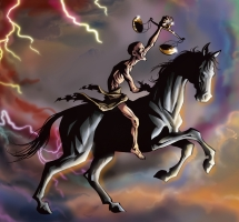 Black Horse Rider