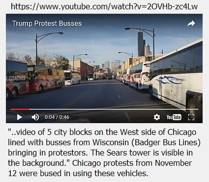 """Protesters"" are bussed in!"