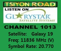 Tsiyon Road on GloryStar Satellite