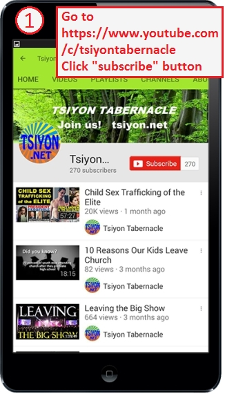 Subscribe to Tsiyon at YouTube