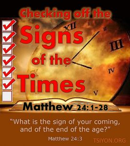 The sign of His coming
