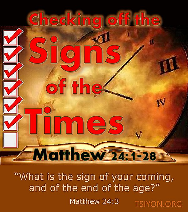 The sign of His coming.