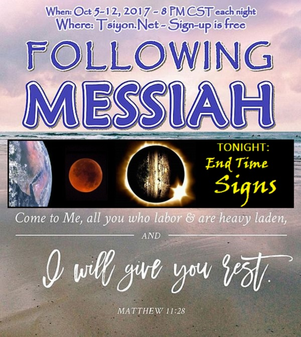 Following Messiah in the End Times