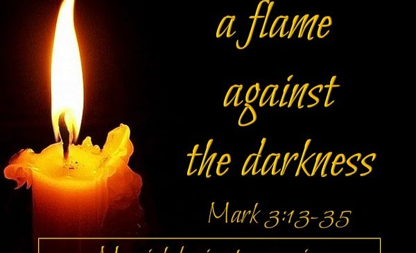 A light against the darkness.