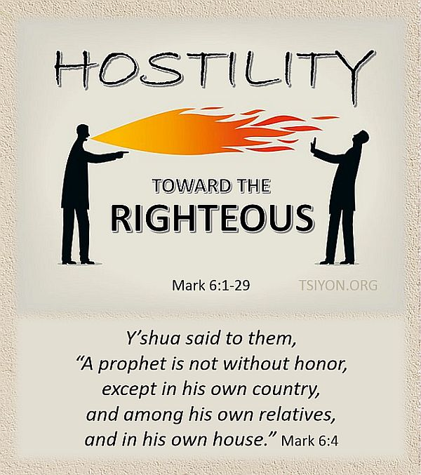 How to handle hostility toward the righteous.