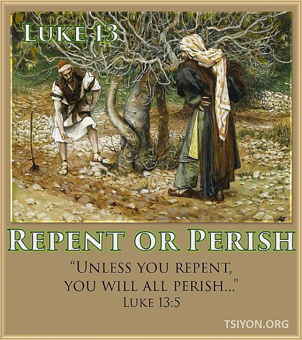 Repent or perish