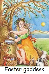 Easter is named after the pagan goddess.