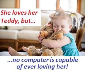 She loves her Teddy