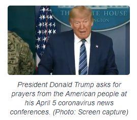 President calls for prayer.