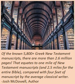 5800 ancient manuscripts of the NT!