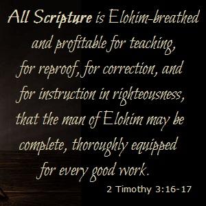 All Scripture!