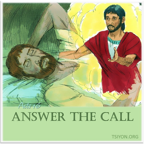 Answer the call! Right away LORD!
