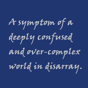 Symptom of a bigger problem.