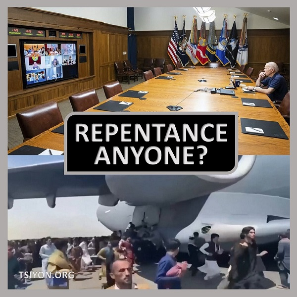 image is clickable to read this weeks tsiyon news edition, text on image reads repentance anyone? tsiyon.org