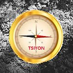 Tsiyon compass in the ashes.