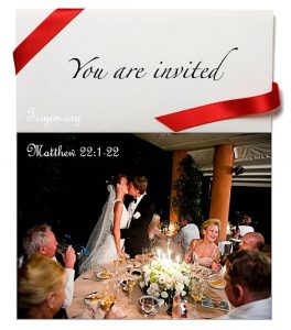Come to the marriage feast!