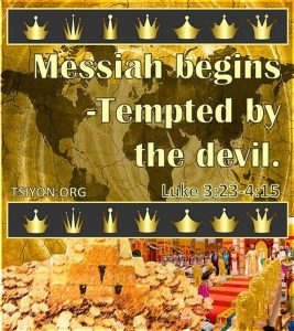 Messiah Tempted by the devil